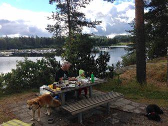 Unser erster Rastplatz in Schweden