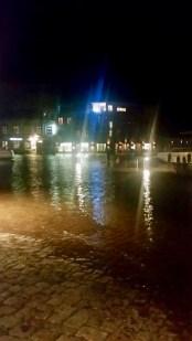 Die Hafeninsel Stralsund - Hochwasser über einen Meter achtzig!