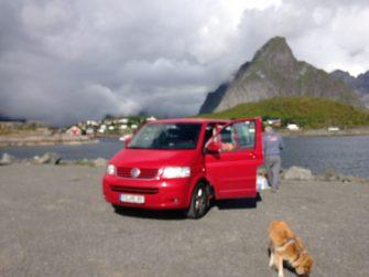Stellplatz in Reine, Lofoten