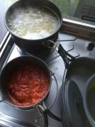 Essen kochen, für die ganze Familie