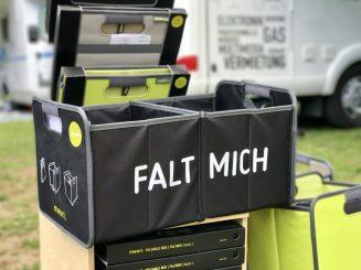 Die ideale Camping-Faltbox: wahlweise mit Flacheneinsatz