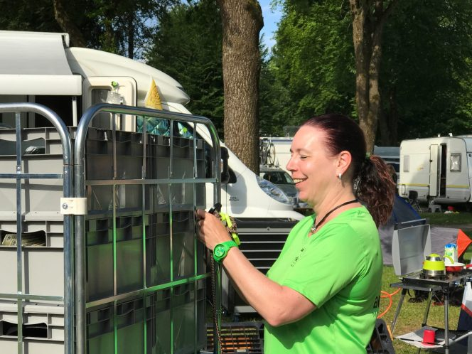 Sandra Irmer ist nicht zimperlich – Messeaufbau ist nichts für Stubenhocker