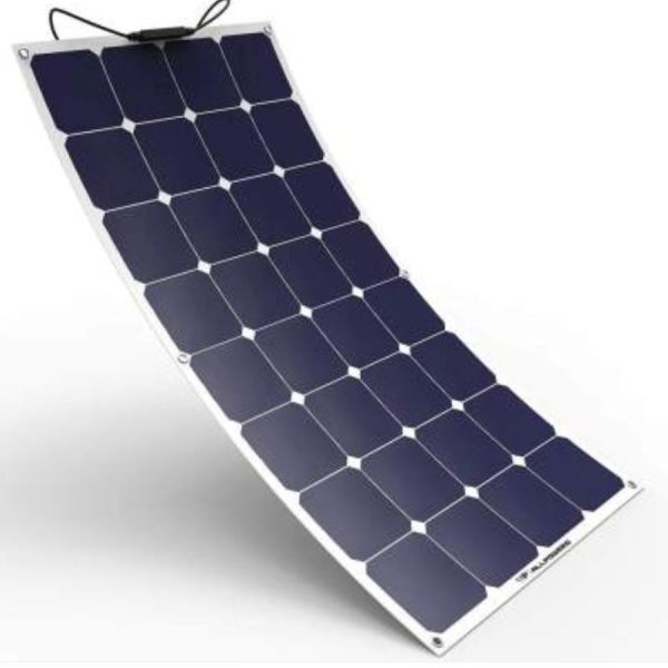 100w semi-flexible solar panel.