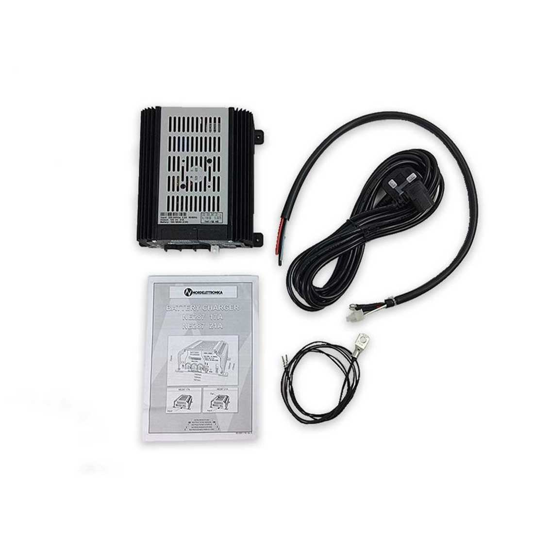 campsite battery charger for motorhome camper and campervan use.