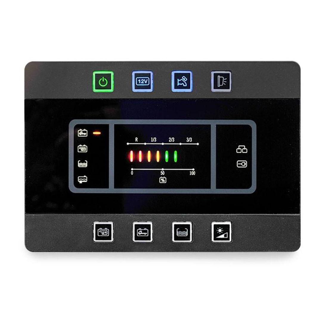 PC180 camper conversion power management system panel.