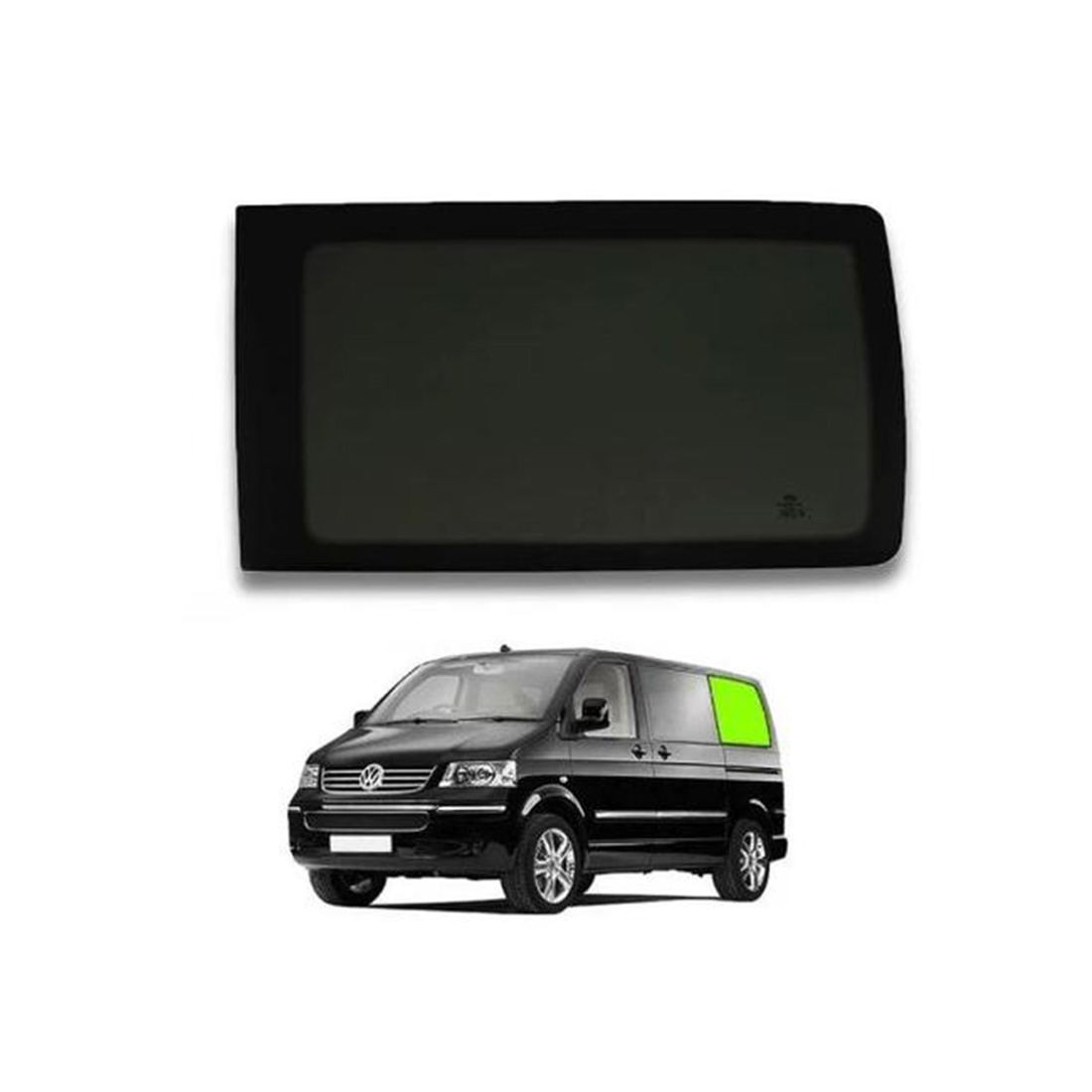 VW T5 & T6 left rear tinted glass.