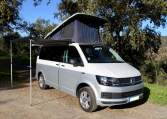 VW T6 for sale with pop top roof and van awning kit.