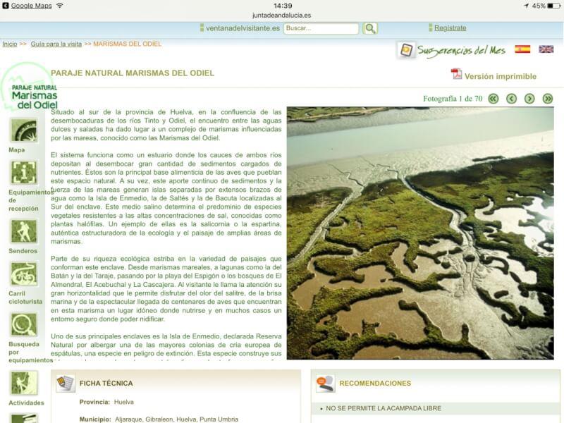 De website van de provincieregering Andalucia met informatie in het Spaans over de natuurparken. De site is een belangrijke informatiebron voor onze ontdekkingstochten