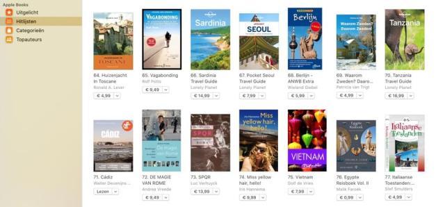 Ook onze kleinere en goedkopere, digitale reisgids over bijvoorbeeld de gezellige Zuid-Spaanse havenstad Cádiz (Bekend van de Nederlandse film La Vida met Loes Luca) veroverde onlangs een plek op de verkooplijst van Apple Books. (E-book).