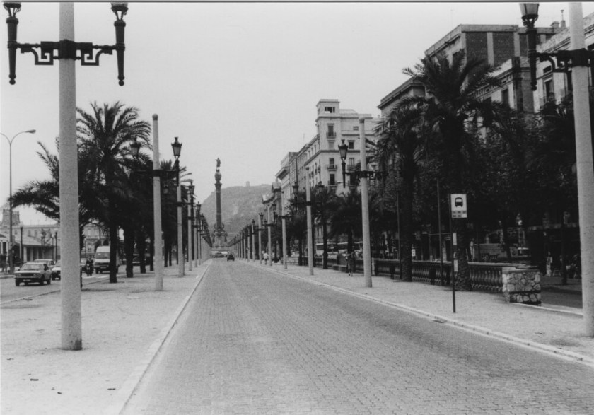 Ook de La Rambla, maar dan zonder de toersten, want die waren er nauwelijks in 1978. (foto 1978, Janine Stougie)