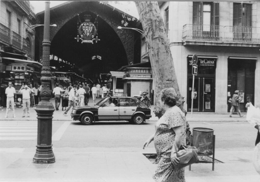 De mooie Mercat, de overdekte markt aan La Rambla.