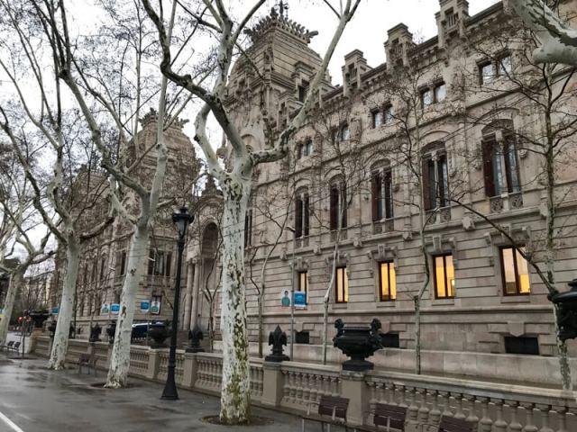 Het oude Paleis van Justitie. (Barcelona).