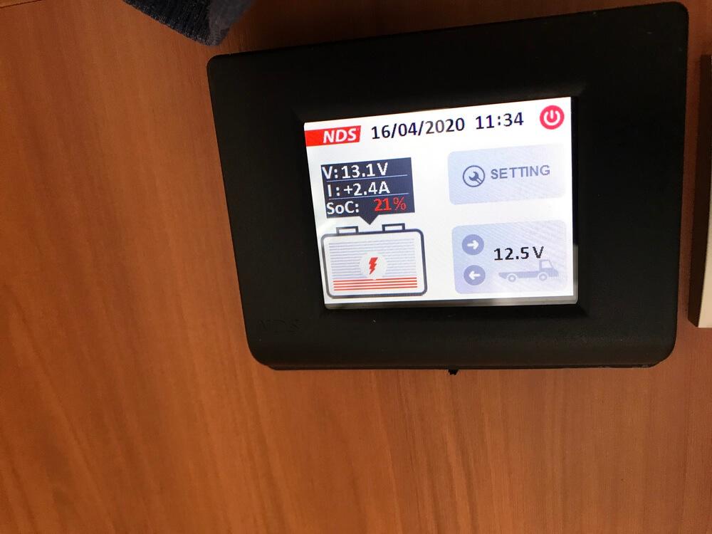 Het NDS-controlepanel waarvan we erg schrokken.(E-bikes en accu's).