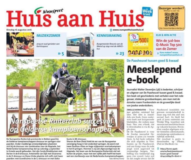 Het e-boek De Paasheuvel stond prominent op de voorpagina.