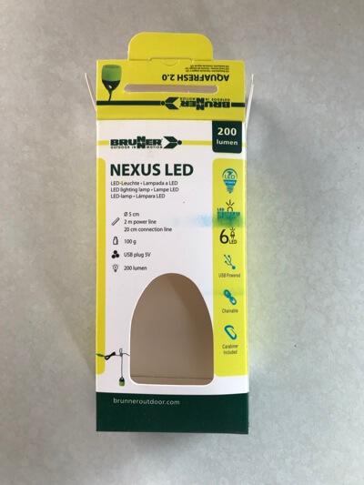 De verpakking van 'Nexus Led' met de technische details