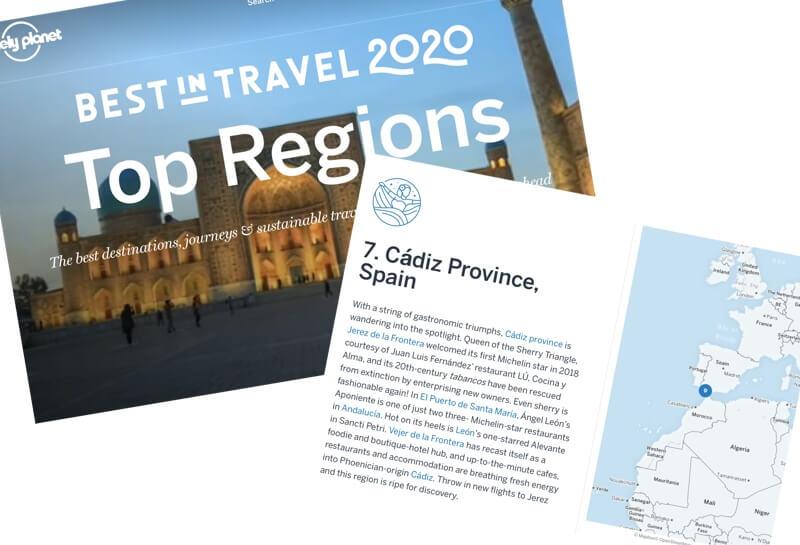 De provincie Cádiz is volgens Lonely Planet beslist een bezoek waard.