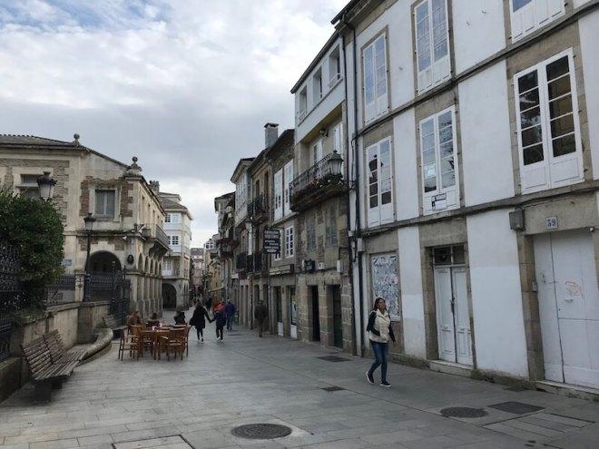 De uitgaansstraat: Rúa Nova