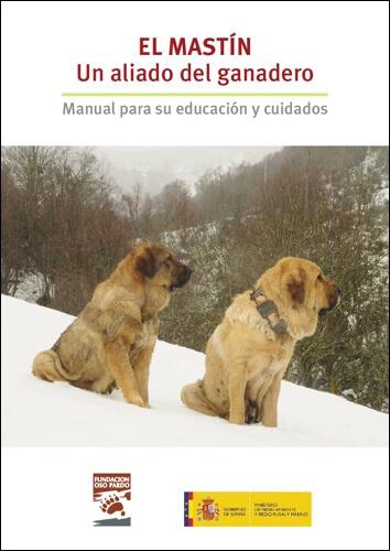 De belangenvereniging van beren (Oso Pardo) en de Spaanse overheid stimuleren gezamenlijk de aanschaf van de Mastiff ter bescherming van kuddes met deze folder.