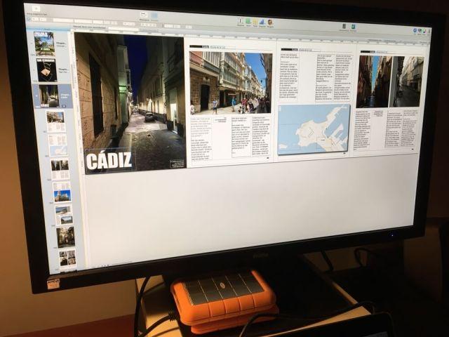 Onze digitale reisgids over Cádiz en de Costa de la Luz Zuid wordt opgemaakt met het Apple-programma iBooks Author.