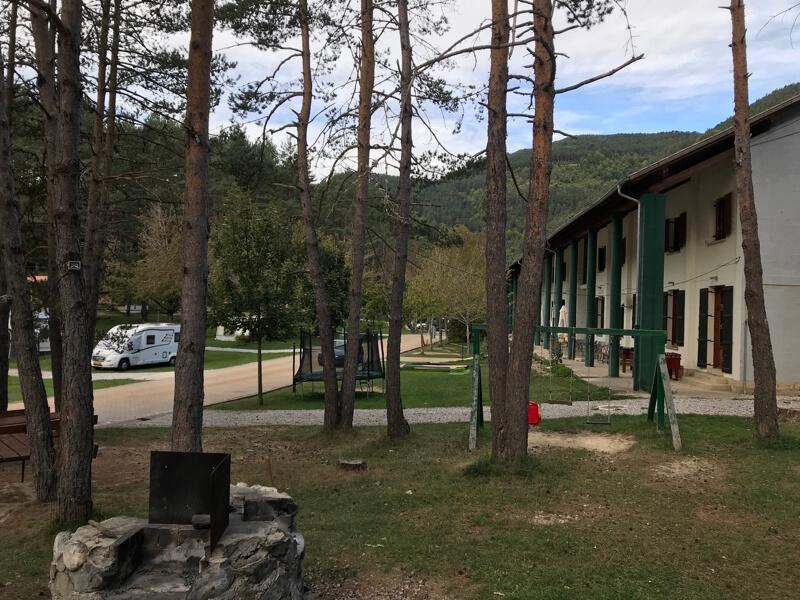 De Pyreneeën-camping Asolaze. Enkele kilometers boven Isaba.