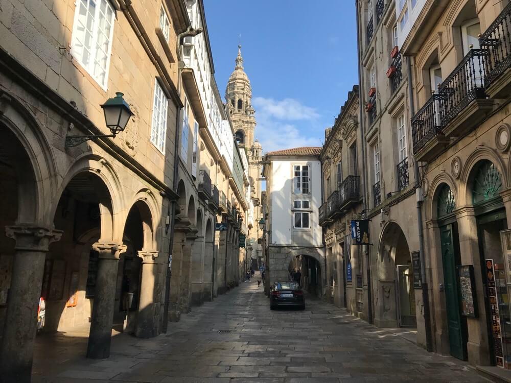 Het historische centrum van Santiago de Compostela is het bezoeken meer dan waard.