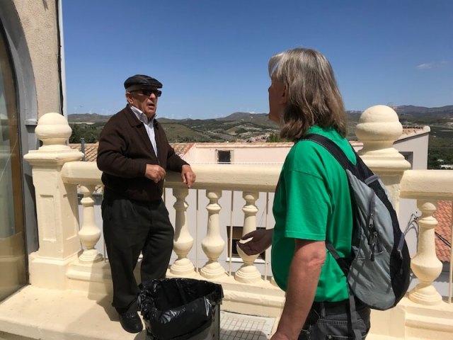 Onze 80-jarige gids en inwoner van Serón. Janine mocht hem Liebling noemen.