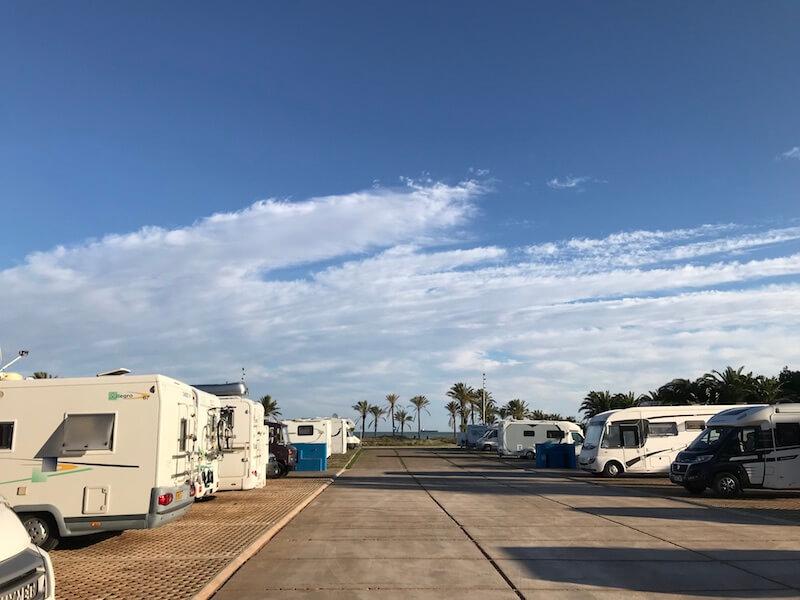 De populaire camperplek El Grao de Castellón (NKC 48883) in Castellón de la Plana is één van de relatief nieuwe locaties in Spanje.