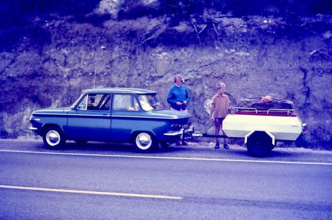 1967. Op weg naar Spanje met de NSU.