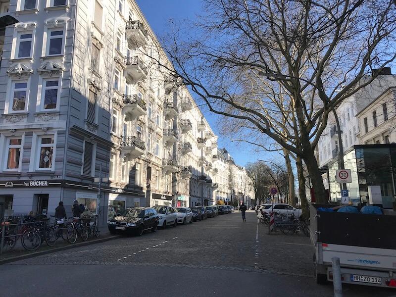 Een beeld van de wijk Rotherbaum.