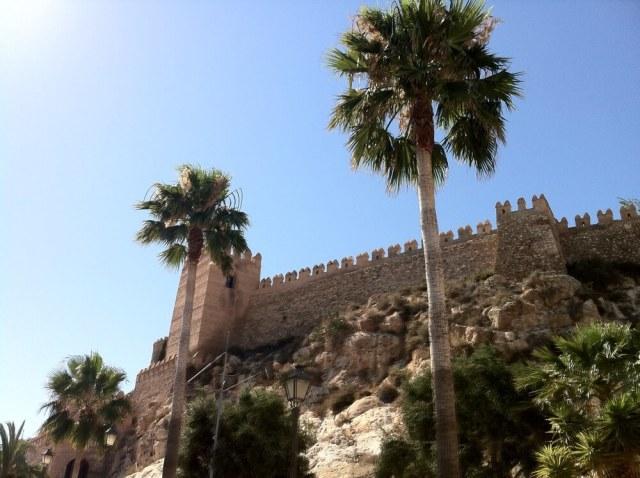Alcazaba van Almería is het grootste Moorse fort van Spanje. (Cabo de Gata - Costa de Almería).