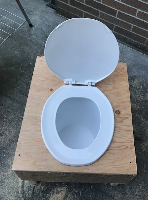 Composting toilet top view