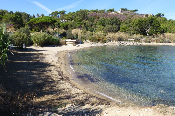 Part of the coastal walkway passing beautiful beaches to reach the centre of St.Tropez