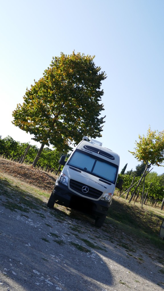 Sosta motorhome parking in Italy