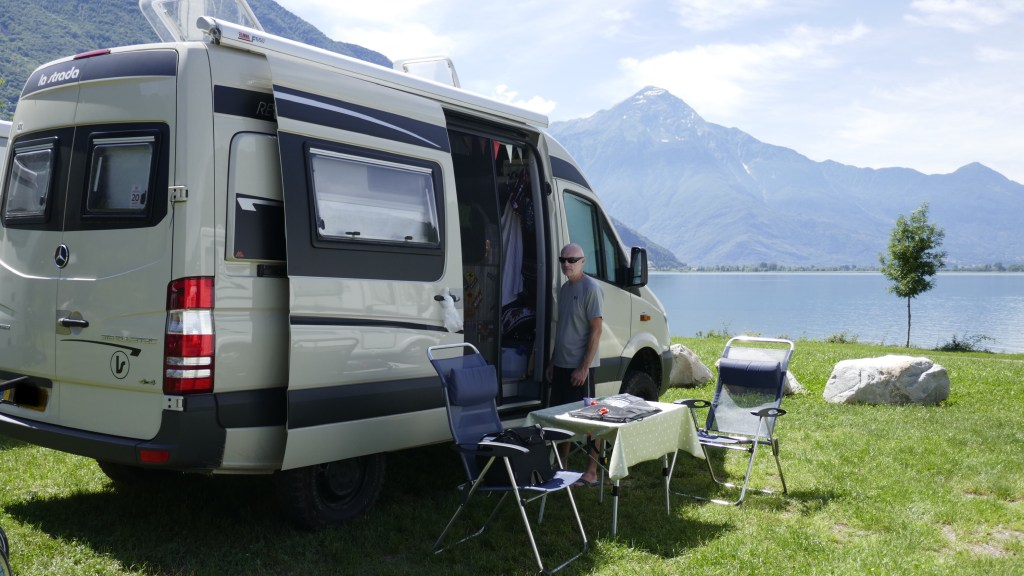 campervan parking Lake Garda