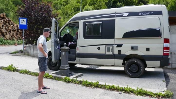 Sosta motorhome parking in Italy