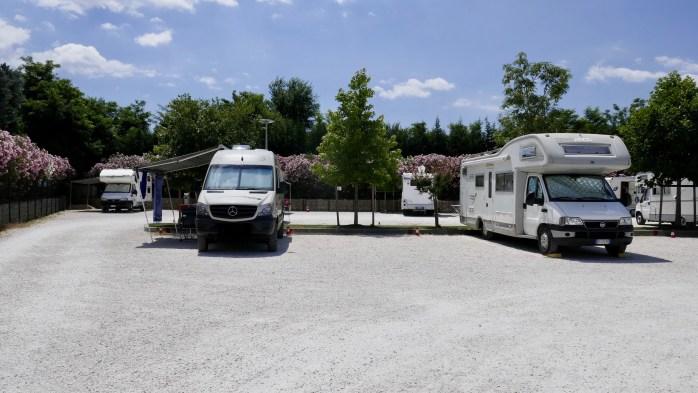Campervan parking Lake Garda