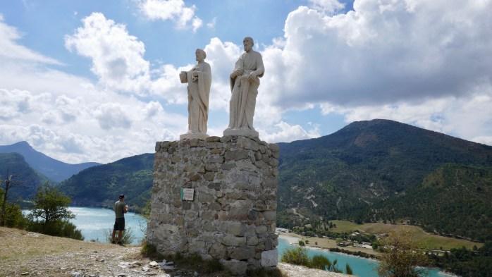 Lac de Castillon Statue of Two Saints
