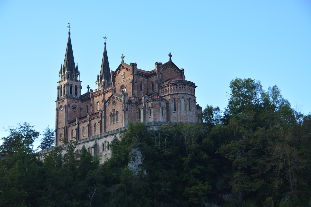 The basilica at Covadonga - eh that's all we know. We were just passing.
