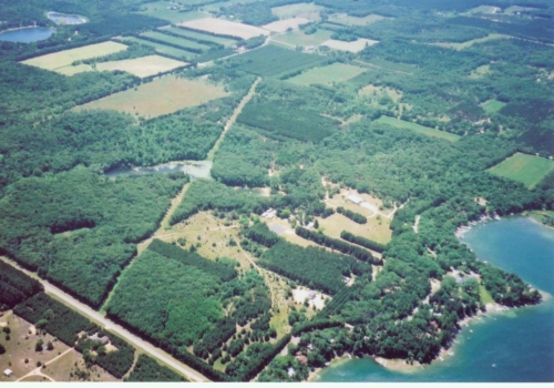 Arial View of camp