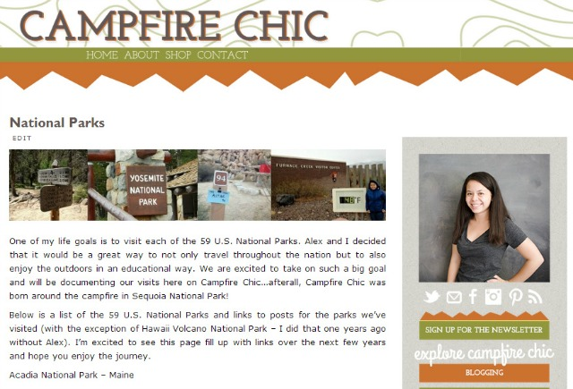 List of National Parks - Campfire Chic