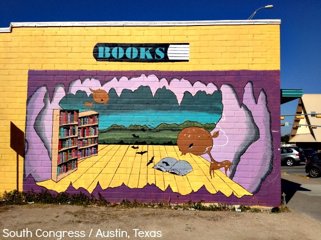 Books Mural in South Congress - Campfire Chic