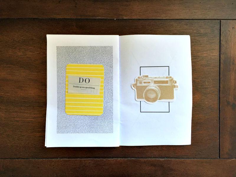 Mixed Media Scrapbooking in a Time Book Mini Album - Campfire Chic