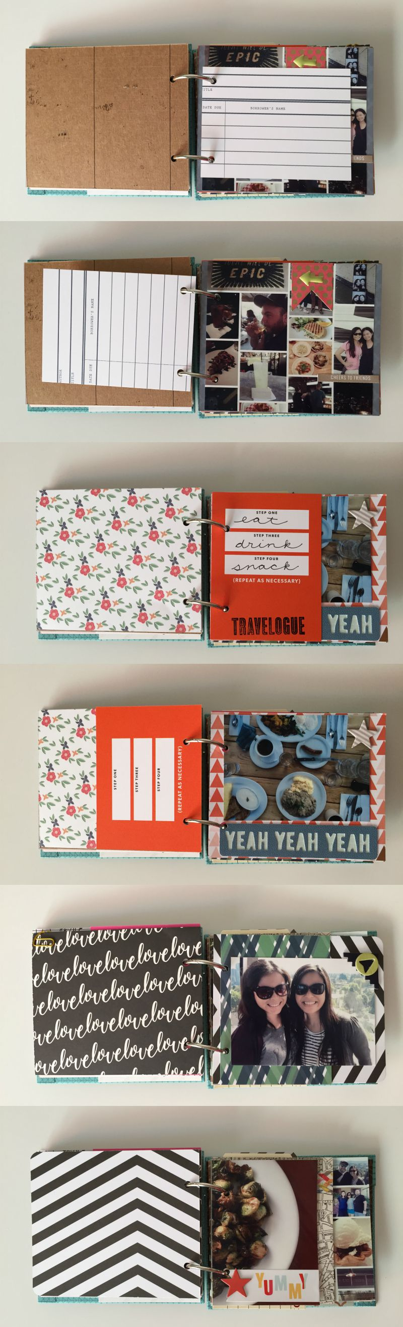 Small DIY Travel Scrapbook by Kam of Campfire Chic