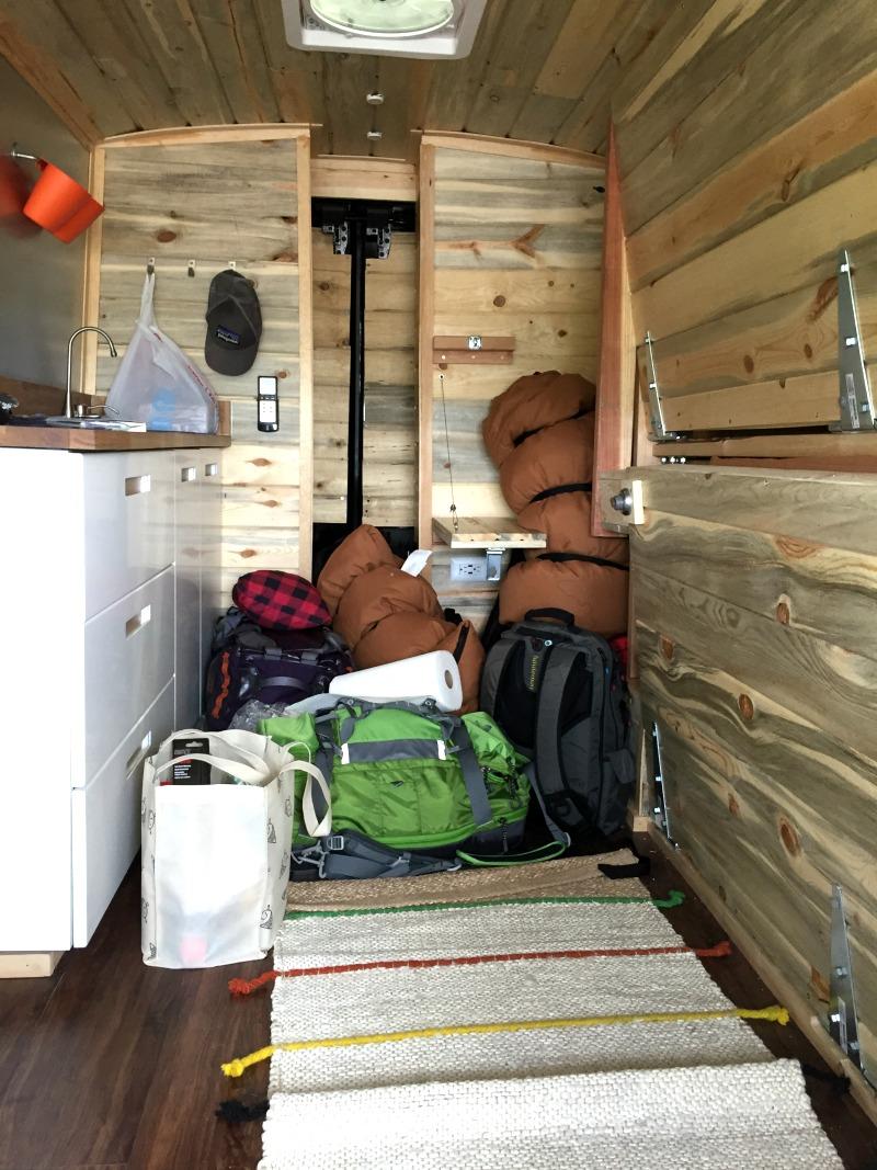 Teton Sports Your Lead Van Interior View - Campfire Chic