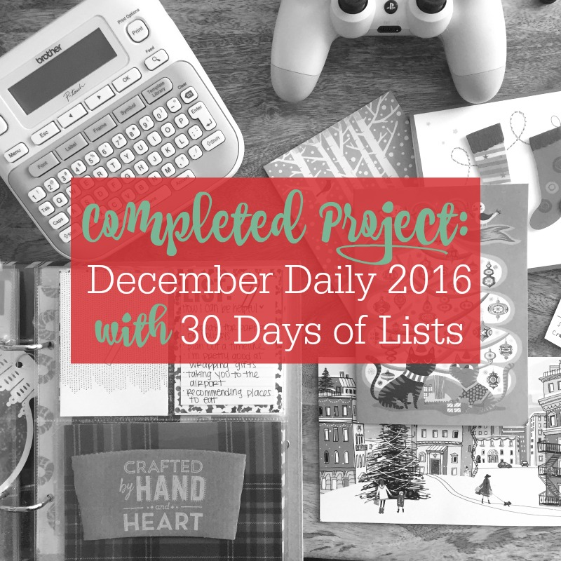 Create a December Daily Album and Include 30 Days of Lists Journaling