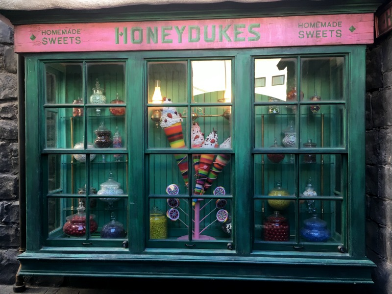 Honeydukes Windows at Universal Studios Hollywood - Kam of Campfire Chic