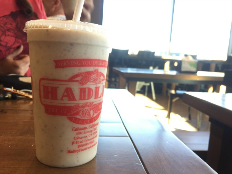 Date Shake from Hadleys in Cabazon California - Kam of Campfire Chic