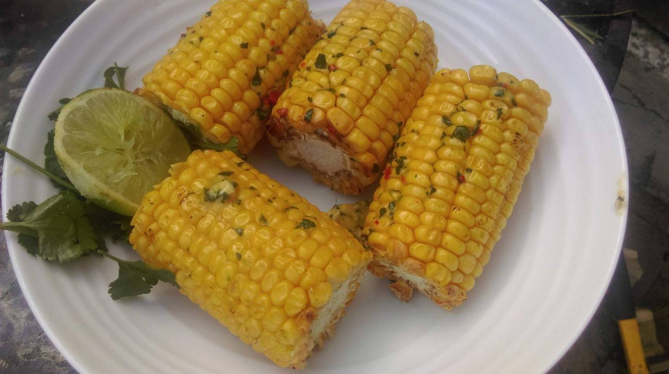 Lime, Chilli and Coriander Flavoured Butter for Corn on the Cob