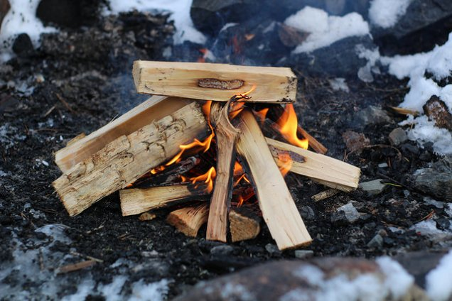 Getting wood processed and prepared for your fire will help to keep you warm!