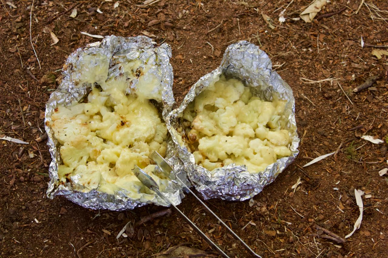 Fire Charred Roasted Cheesy Cauliflower